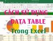 Cách sử dụng Data Table 1 biến, 2 biến để thống kê dữ liệu trong Excel